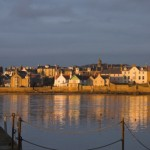 Elie harbour evening sun