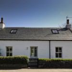 white cottage house