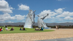 The Kelpies at Helix Park copyright Wikimedia